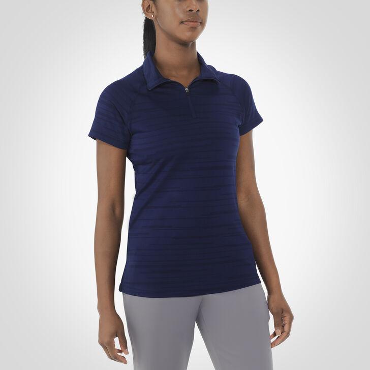 Women's Dri-Power® Striated Polo NAVY