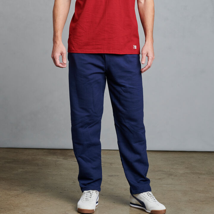 Men's Dri-Power® Open Bottom Fleece Sweatpants Navy