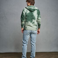 Men's Tie Dye French Terry Hoodie CYPRESS