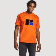 Men's Heritage Heavyweight Flock T-Shirt ORANGE