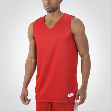 Men's Dri-Power® Undivided Reversible Basketball Jersey TRUE RED/WHITE