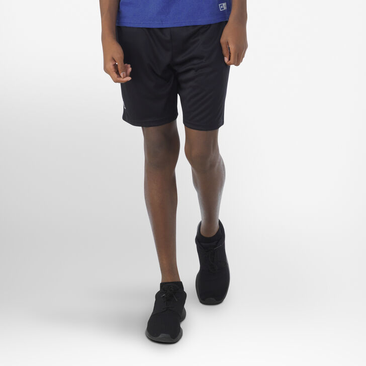 Youth Dri-Power® Essential Performance Shorts with Pockets BLACK