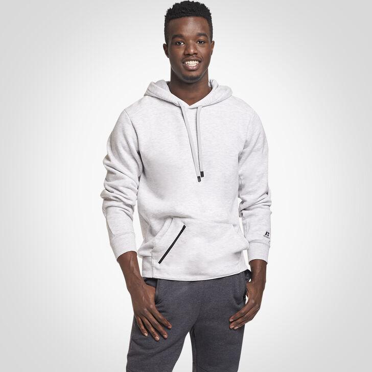 Men's Cotton Rich Fleece Hoodie ASH