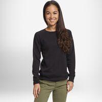 Women's Fleece Crew Sweatshirt Black