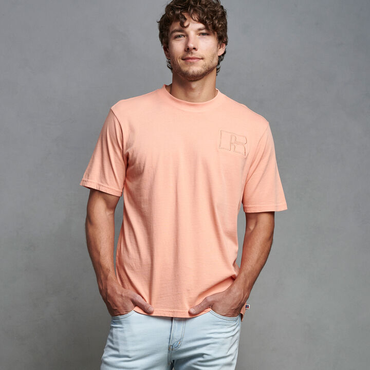 Men's Heritage Garment Dyed T-Shirt CORAL PINK
