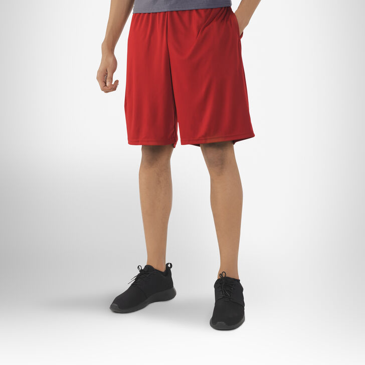 Men's Dri-Power® Essential Performance Shorts with Pockets CARDINAL