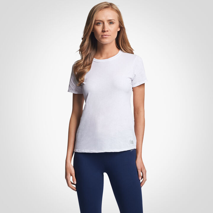 Women's Cotton Performance T-Shirt WHITE