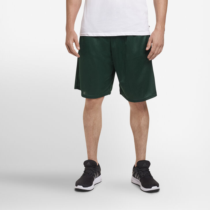 Men's Dri-Power® Mesh Shorts with Pockets DARK GREEN
