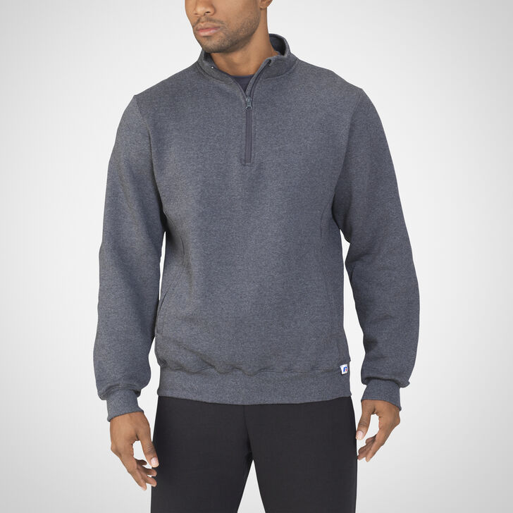 Men's Dri-Power® Fleece 1/4 Zip Pullover BLACK HEATHER