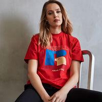 Women's Heritage Mid-Crop Graphic T-Shirt TRUE RED