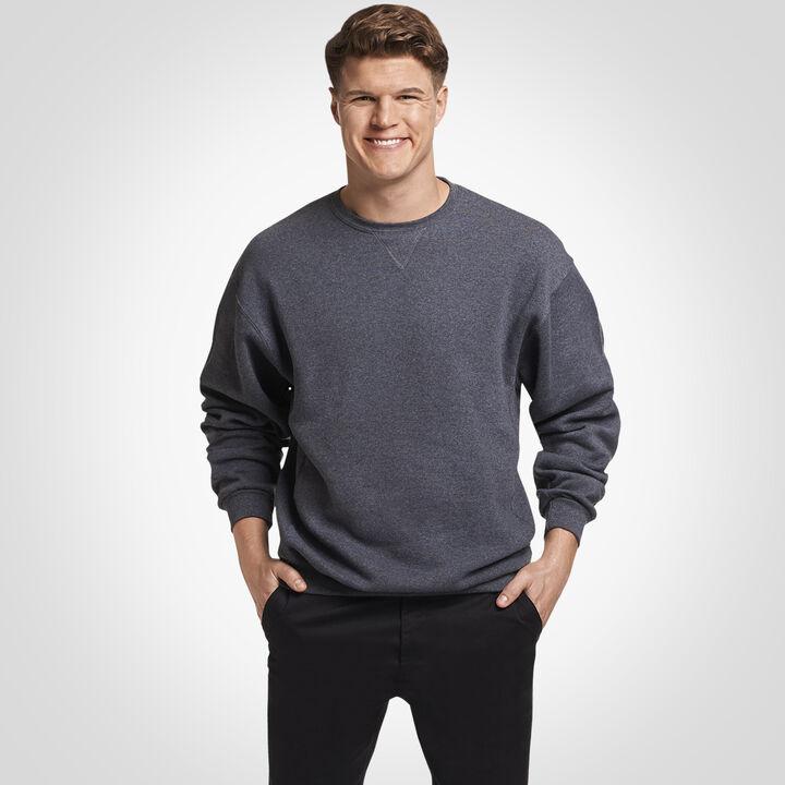 Men's Dri-Power® Fleece Crew Sweatshirt BLACK HEATHER