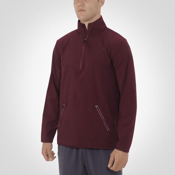Men's Woven 1/4 Zip Pullover MAROON
