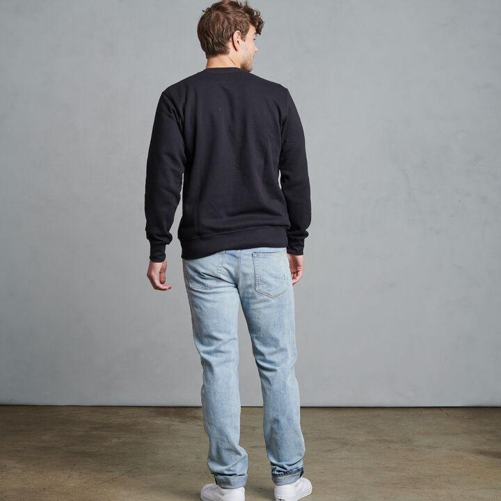 Men's Evan Classic Crew Neck Sweatshirt BLACK