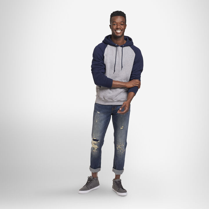 Men's Dri-Power® Fleece Colorblock Hoodie OXFORD/NAVY