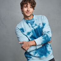 Men's Tie Dye French Terry Sweatshirt BLUE