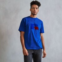 Men's Heritage Flock Graphic T-Shirt MAZARINE BLUE