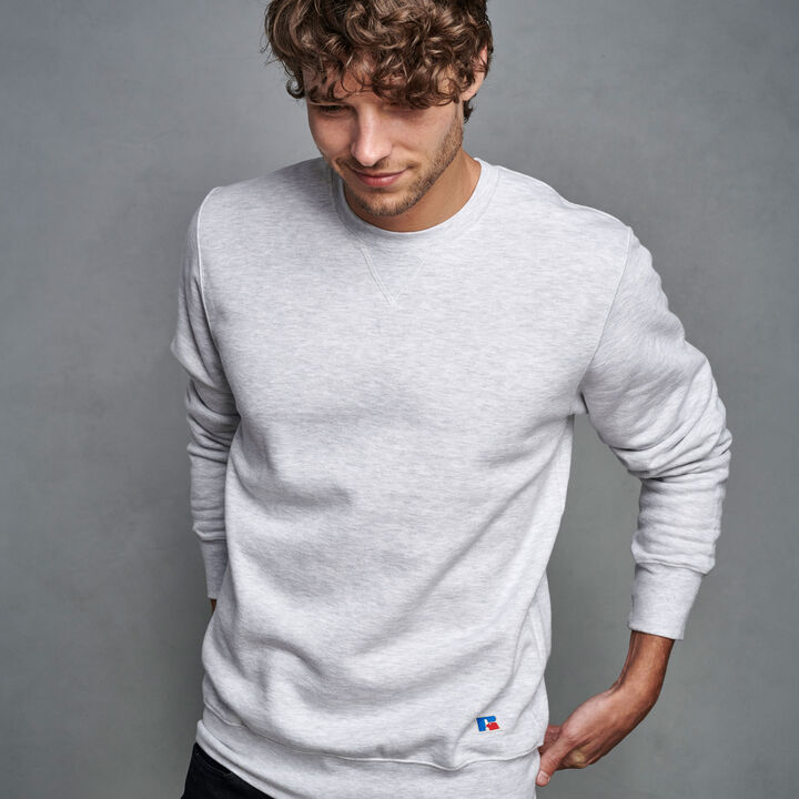 Men's Cotton Classic Fleece Crew Sweatshirt Ash