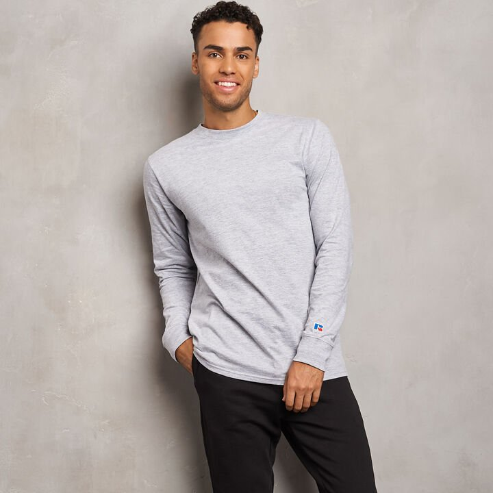 Men's Heavyweight Cotton Classic Long Sleeve T-Shirt OXFORD