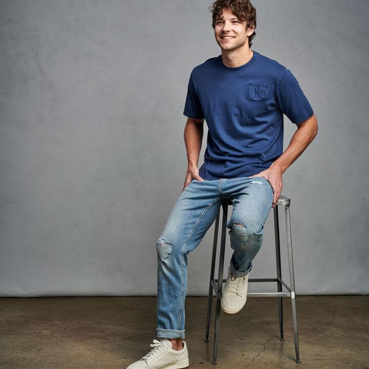Men's Heritage Garment Dyed T-Shirt NAVY