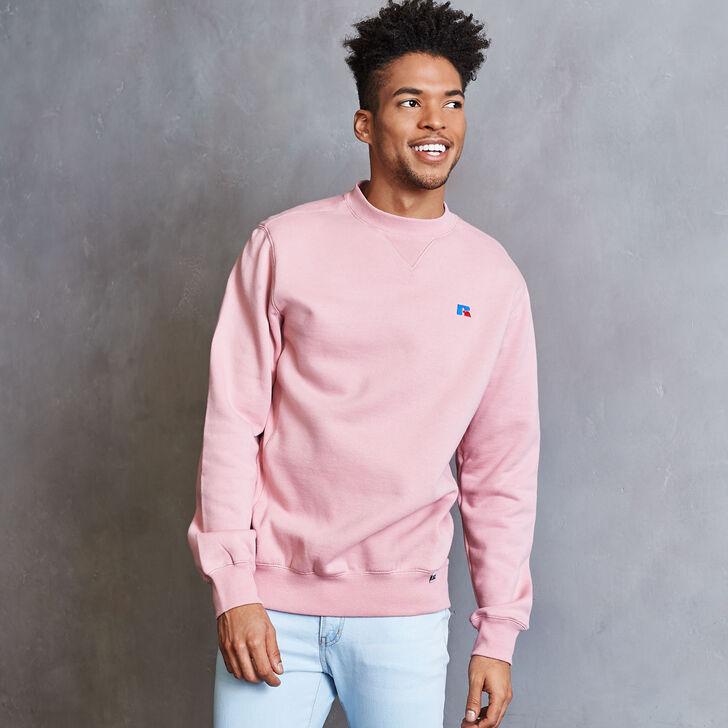 Men's Heritage Fleece Crew Sweatshirt PINK