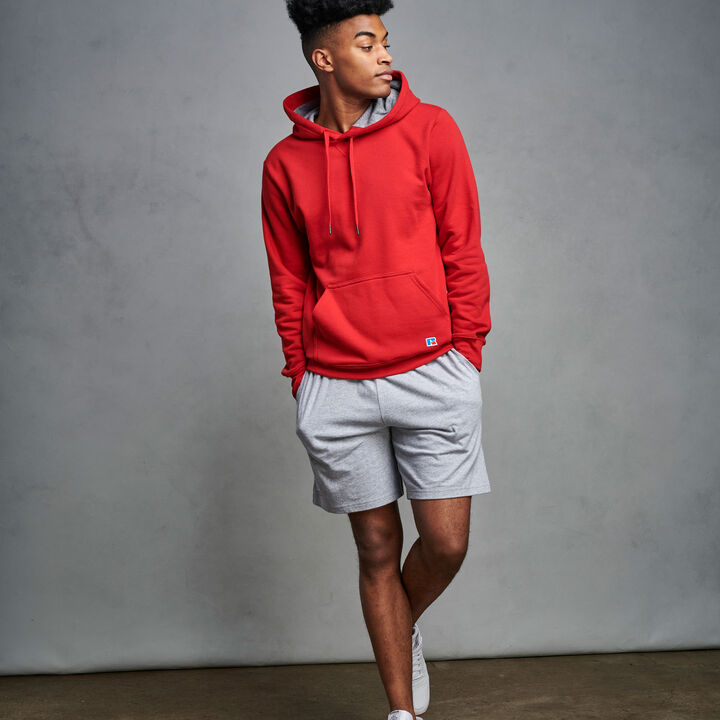 Men's Cotton Rich 2.0 Premium Fleece Hoodie True Red