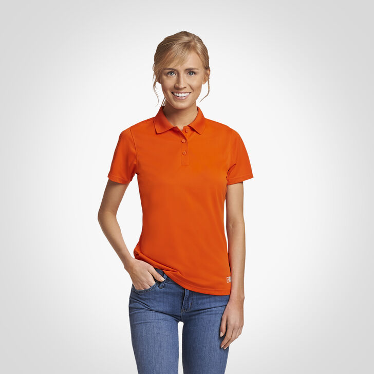 Women's Dri-Power® Performance Golf Polo BURNT ORANGE