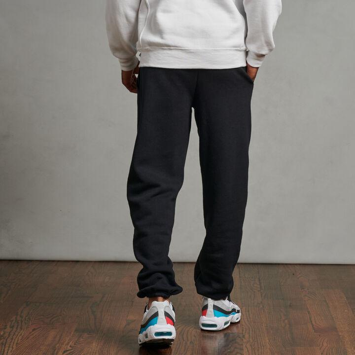 Men's Dri-Power® Closed Bottom Fleece Sweatpants Black