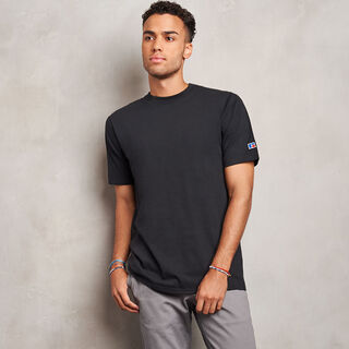 Men's Heavyweight Cotton Classic T-Shirt BLACK