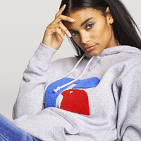 Women's Mike Chenille Oversized Hoodie OXFORD