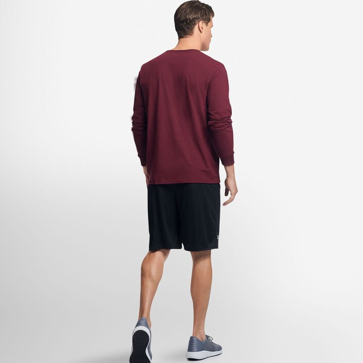 Men's Cotton Performance Long Sleeve T-Shirt MAROON