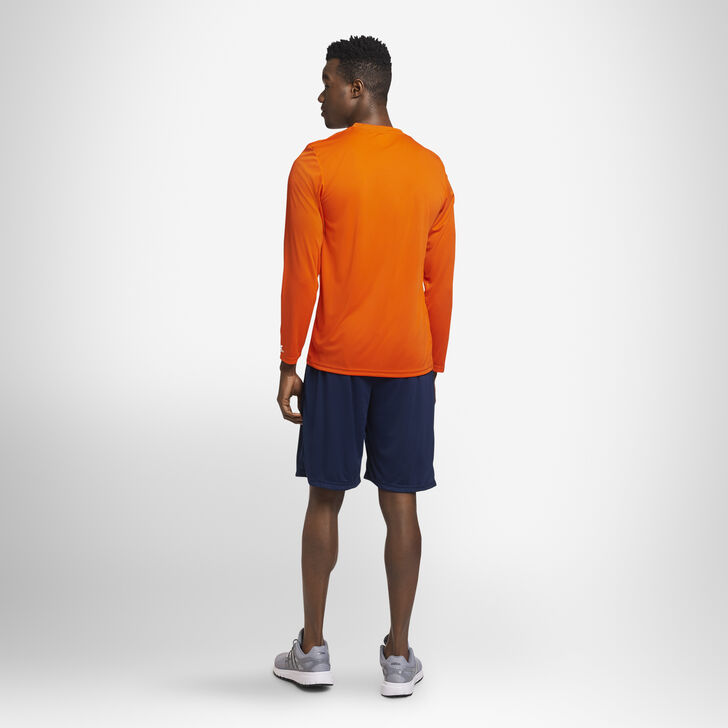 Men's Dri-Power® Performance Long Sleeve T-Shirt BURNT ORANGE