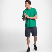 Men's Cotton Performance T-Shirt RETRO HEATHER GREEN