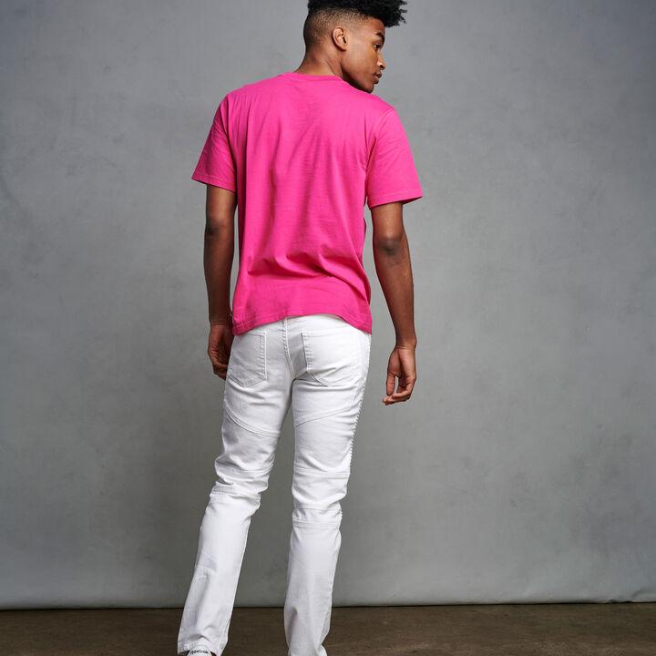 Men's Heritage Baseliner T-Shirt MAGENTA