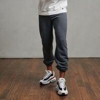 Men's Dri-Power® Closed Bottom Fleece Sweatpants (No Pockets) Black Heather