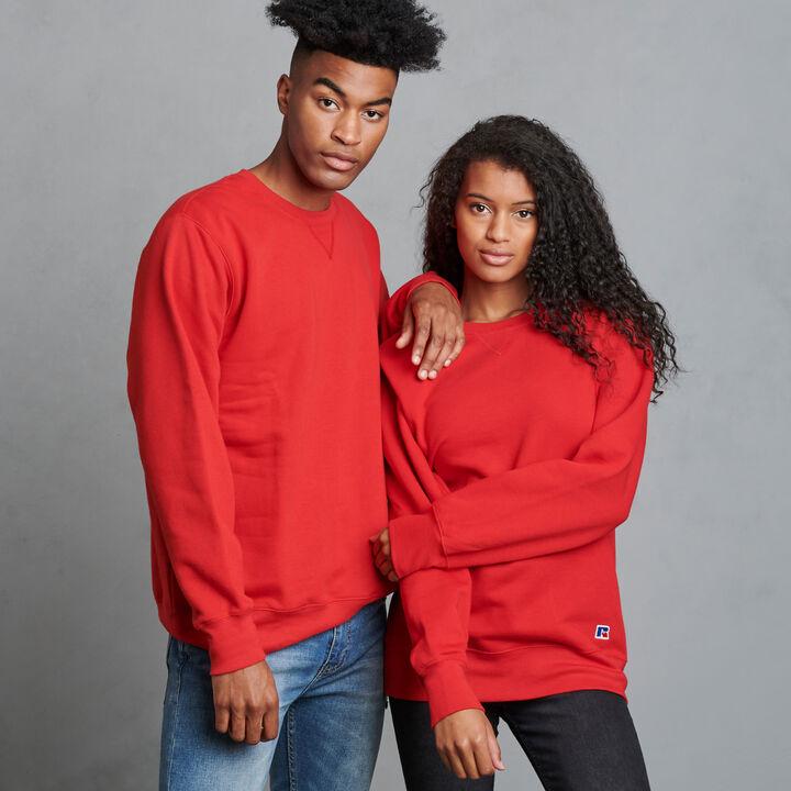 Men's Cotton Rich 2.0 Premium Fleece Sweatshirt True Red