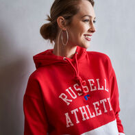 Women's Heritage Cropped Athletic Fleece Hoodie TRUE RED
