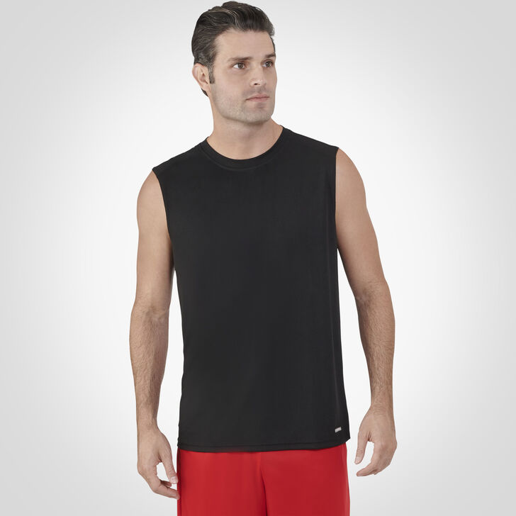 Men's Dri-Power® Performance Mesh Sleeveless Muscle Black