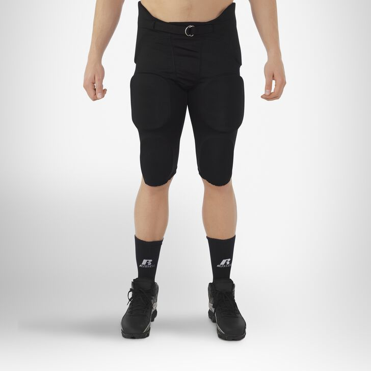 Men's Integrated 7-Piece-Pad Football Pants BLACK