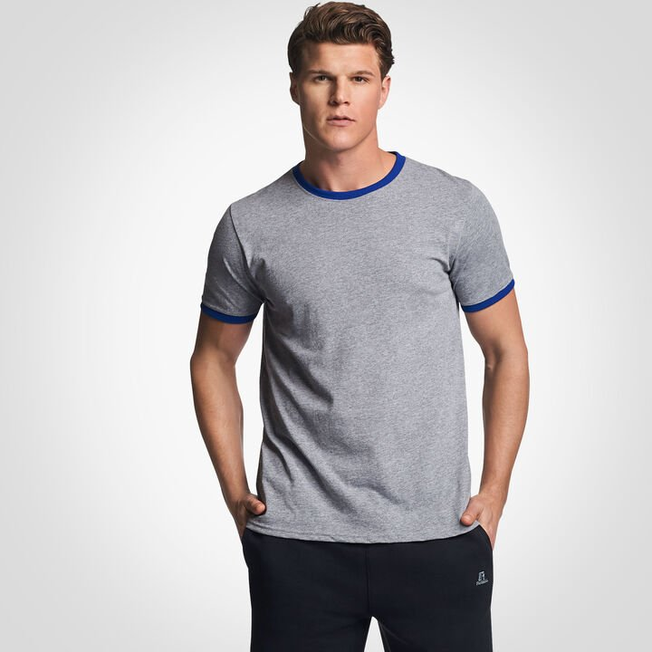 Men's Cotton Performance Ringer T-Shirt OXFORD/ROYAL