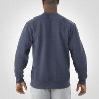 Men's Cotton Rich Fleece Crew Sweatshirt NAVY HEATHER