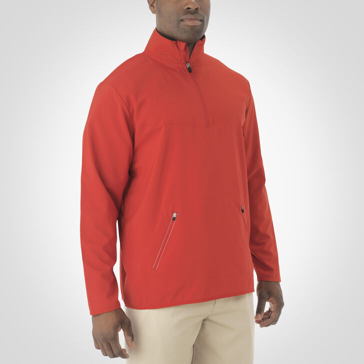 Men's Woven 1/4 Zip Pullover TRUE RED