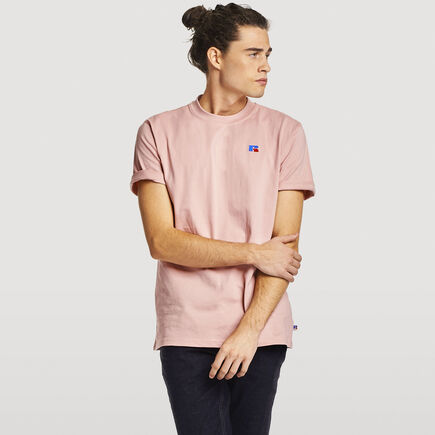 Men's Heritage Heavyweight Baseliner T-Shirt PINK