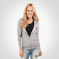 Women's Essential Lightweight Full Zip Hoodie OXFORD