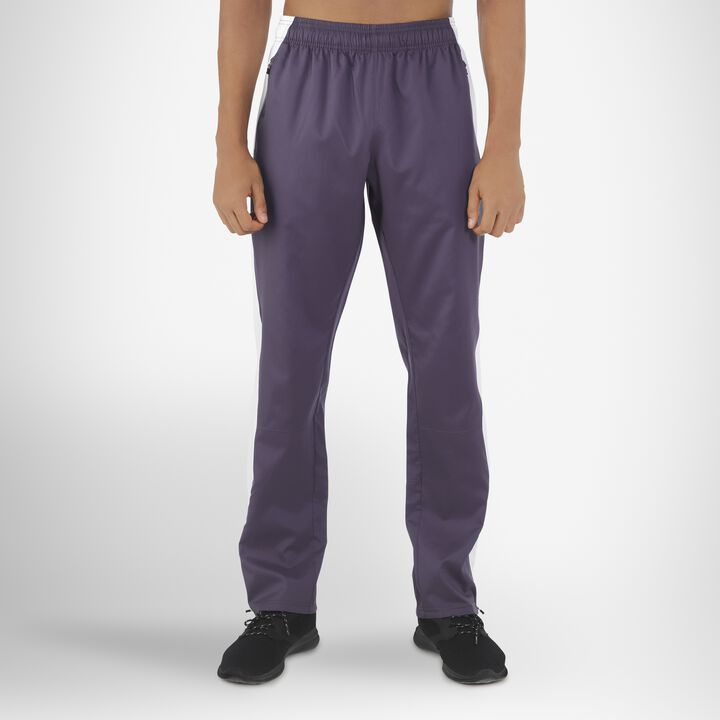 Men's Woven Warm Up Pants STEALTH/WHITE