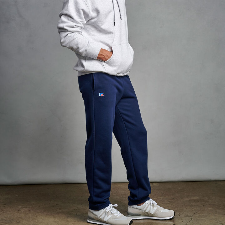 Men's Cotton Classic Open Bottom Fleece Sweatpants Navy