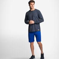 Men's Cotton Performance Long Sleeve T-Shirt BLACK HEATHER