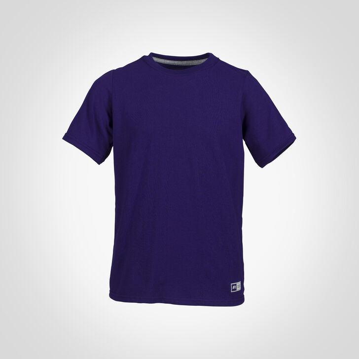 Youth Cotton Performance Tee PURPLE