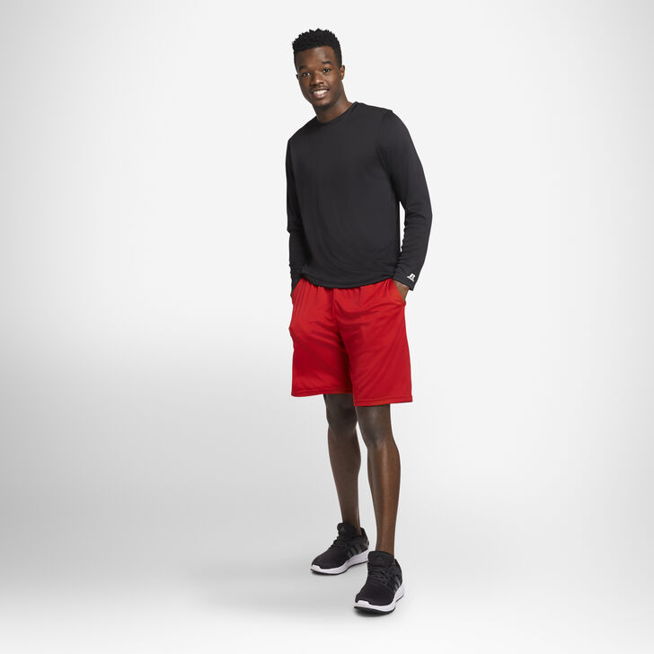 Men's Dri-Power® Performance Long Sleeve T-Shirt BLACK
