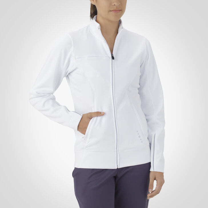 Women's Dri-Power® Tech Fleece Full-Zip Jacket WHITE