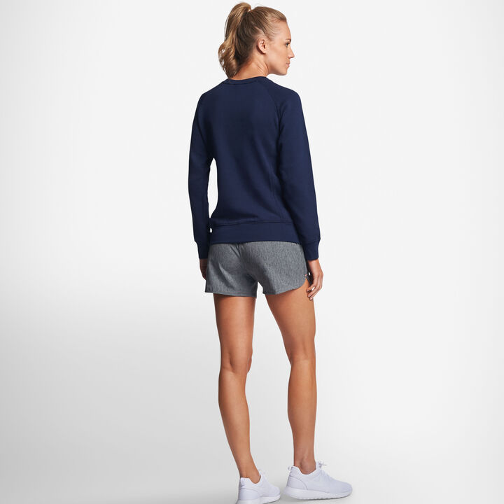 Women's Lightweight Fleece Crew Sweatshirt NAVY